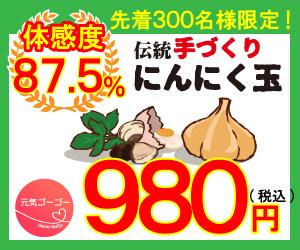 【i2i】元気ゴーゴーのにんにく玉が無料どころか220円貰える!