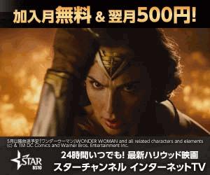 【初月無料次月540円】スターチャンネル登録で960円以上ゲット!